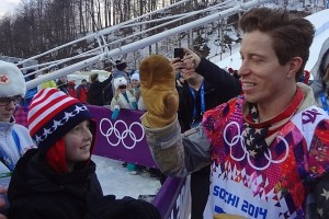 Shaun White meets kids who survived cancer