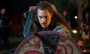 Uhtred with shield